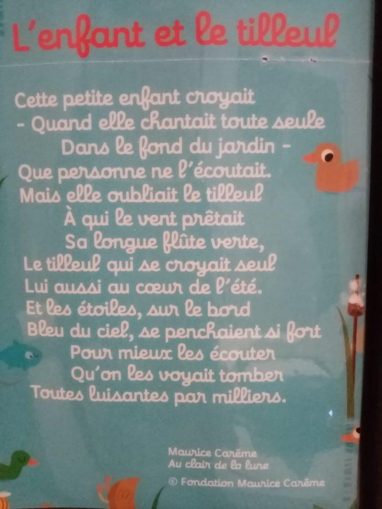 notre poème de mars : L'enfant et le tilleul