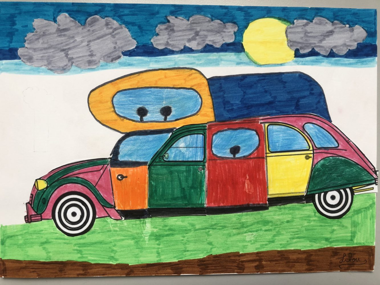 Arts Visuels : Nos voitures.